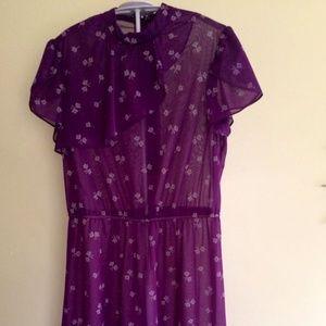 Dresses & Skirts - Vintage, Purple, Floral, Dresses